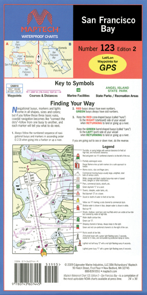 San Francisco Bay Waterproof Chart